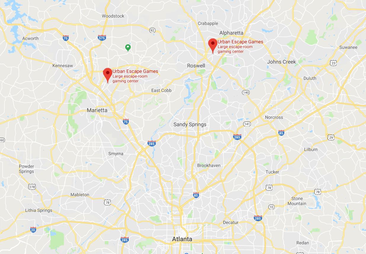 Escape Room Atlanta Locations